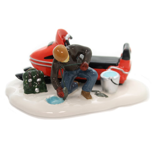 Department 56 Accessory CATCH OF THE DAY Ceramic Snow Village 6000653