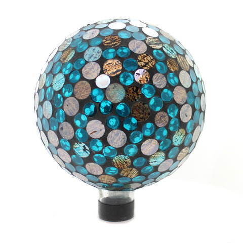Home & Garden COPPER OCEAN MOSAIC GAZING BALL Glass Yard Decoration 65790 37121