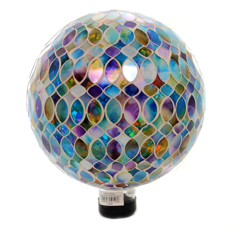 Home & Garden BLUE IRREDSCENT GAZING BALLL Glass Mosaic Yard Decoration 65811 37122