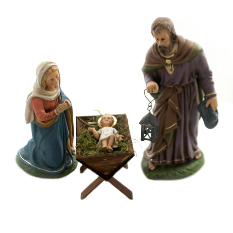 Marolin HOLY FAMILY SET OF 4 Paper Mache Nativity Germany Mary Joseph 40360 37125