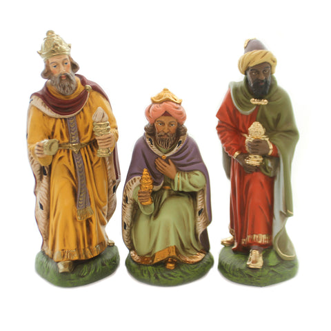 Marolin THREE KINGS SET OF 3 Paper Mache Nativity Germany Magi Gift 503/60 37126