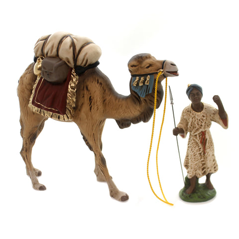 Marolin CAMEL & DRIVER SET OF 2 Paper Mache Nativity Germany 20750 & 22870 37128