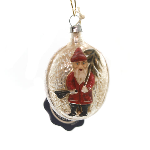 Marolin ST NICHOLAS VINTAGE LOOKING Glass Ornament Feather Tree 2011034 37135