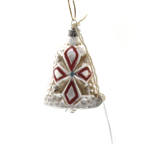 Marolin LITTLE BELL VINTAGE LOOKING Glass Ornament Feather Tree 2011117F 37137
