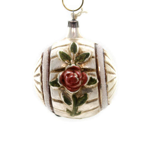 Marolin ROSE & SUN WHEEL Glass Ornament Feather Tree 2011085 37140