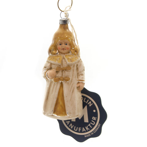 Marolin NUREMBERG CHRIST CHILD Glass Ornament Feather Tree Germany 2011095 37153