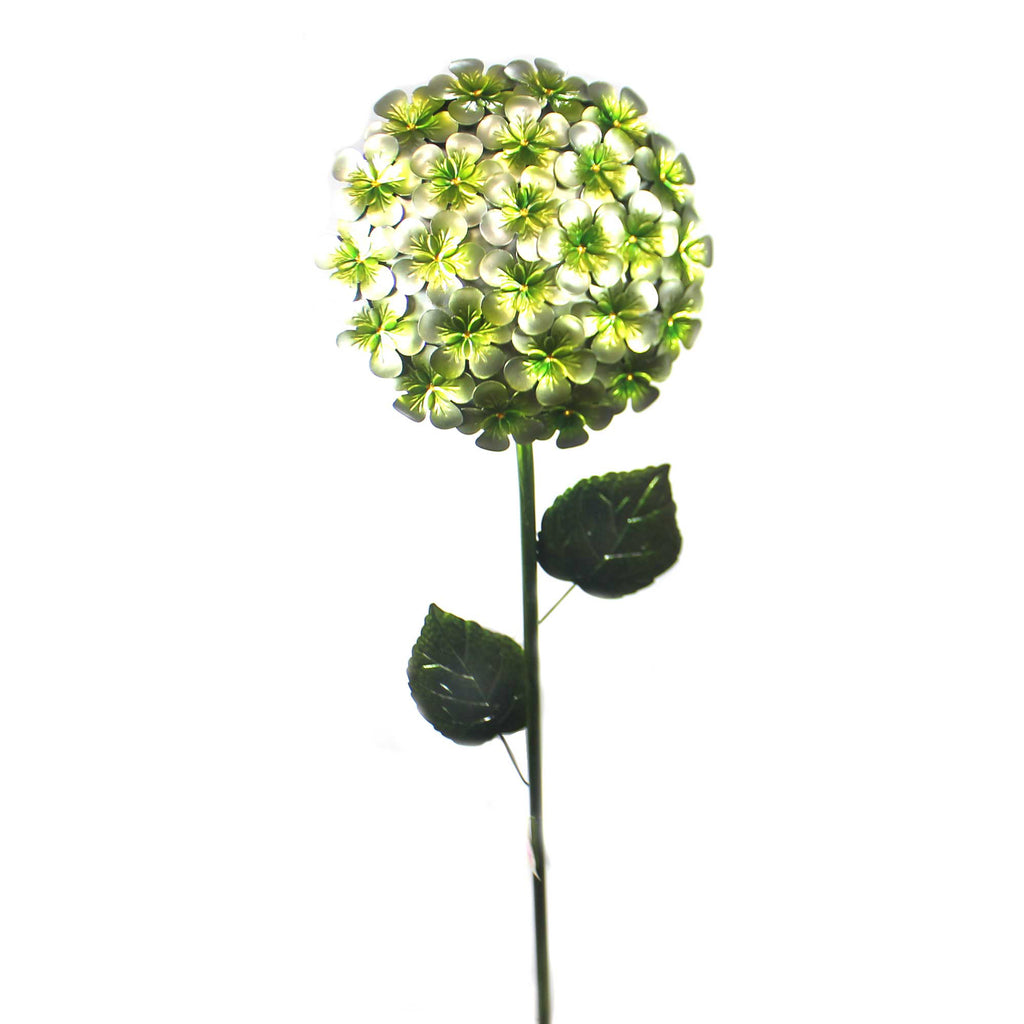 Home & Garden WHITE HYDRANGEA STAKE Metal Garden Accent Flower 11229
