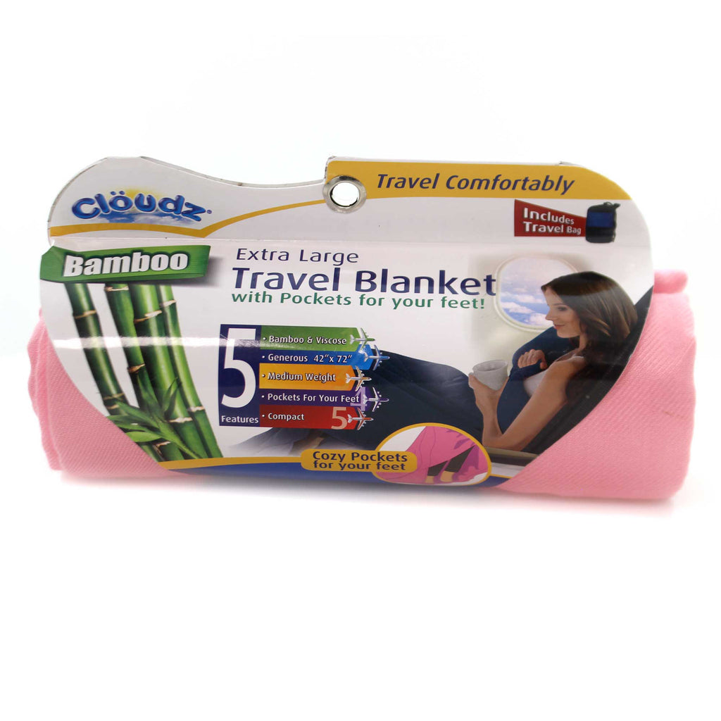 TRAVEL BLANKET Fabric Cozy Pockets Extra Large 260025 Pink