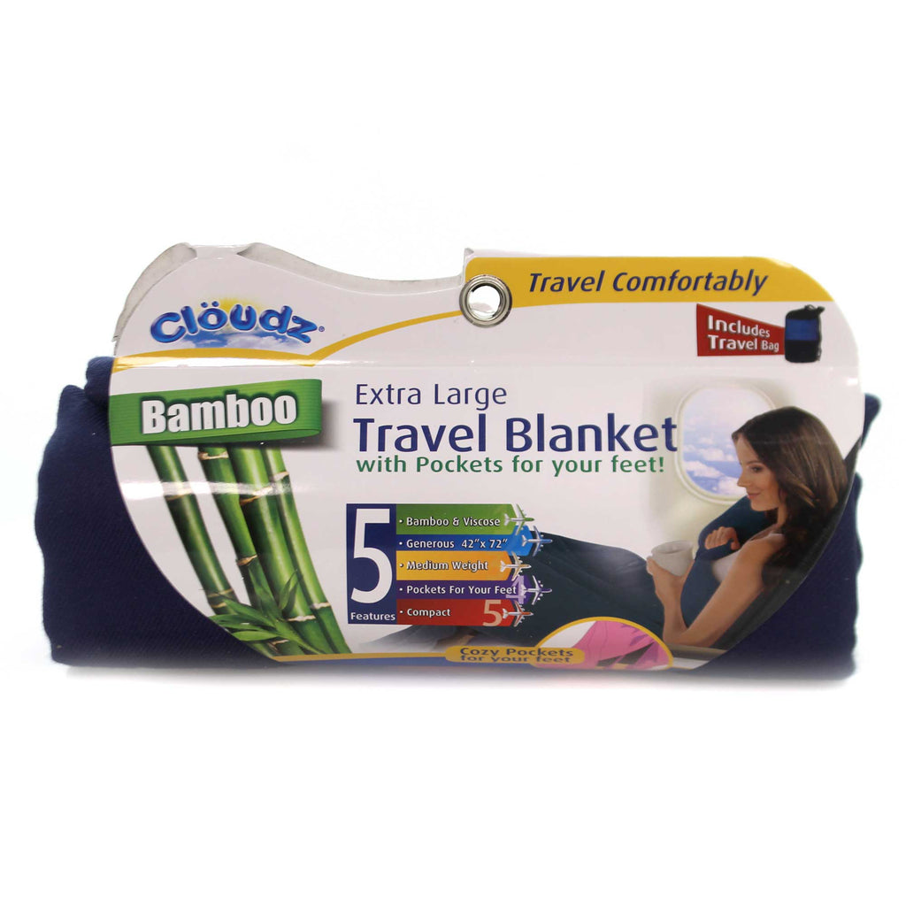 TRAVEL BLANKET Fabric Cozy Pockets Extra Large 260025 Blue