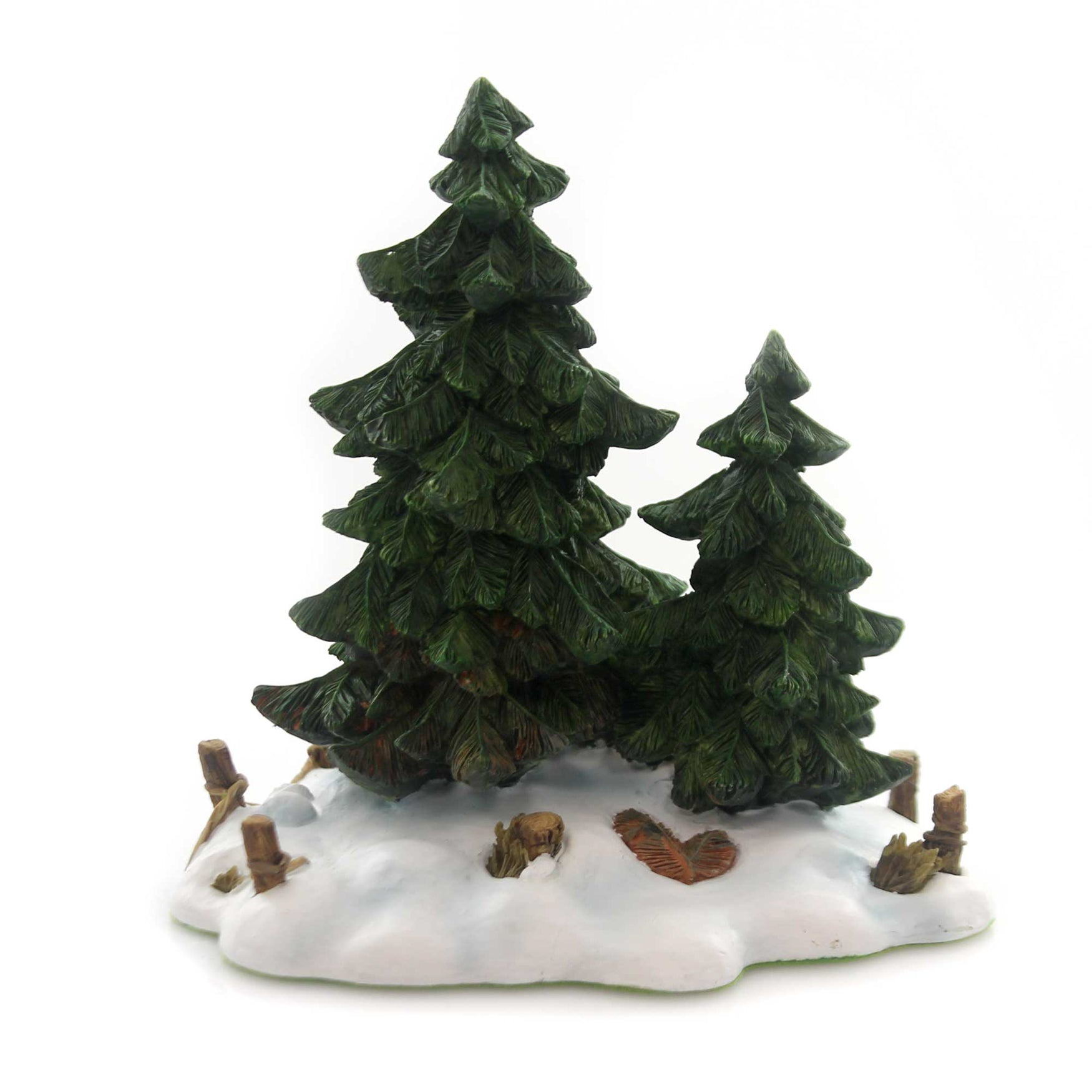 Department 56 Christmas Tree.Department 56 Accessory Double Pine Trees Polyresin Retired Village 52619