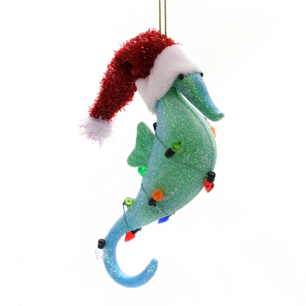 Holiday Ornaments SEAHORSE WITH HAT Glass Department 56 6002497