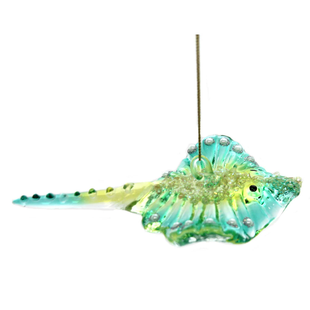 Holiday Ornaments STING RAY ORNAMENT Glass Department 56 6002583