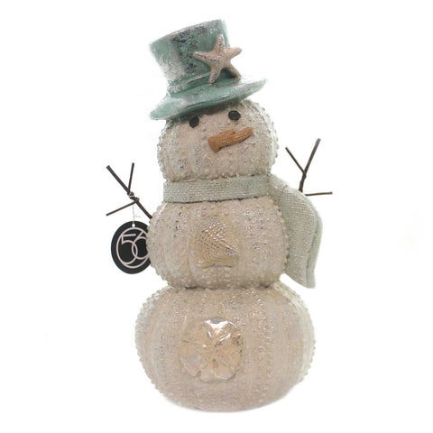 Christmas SNOWMAN WITH STARFISH Polyresin Department 56 6002502 37269