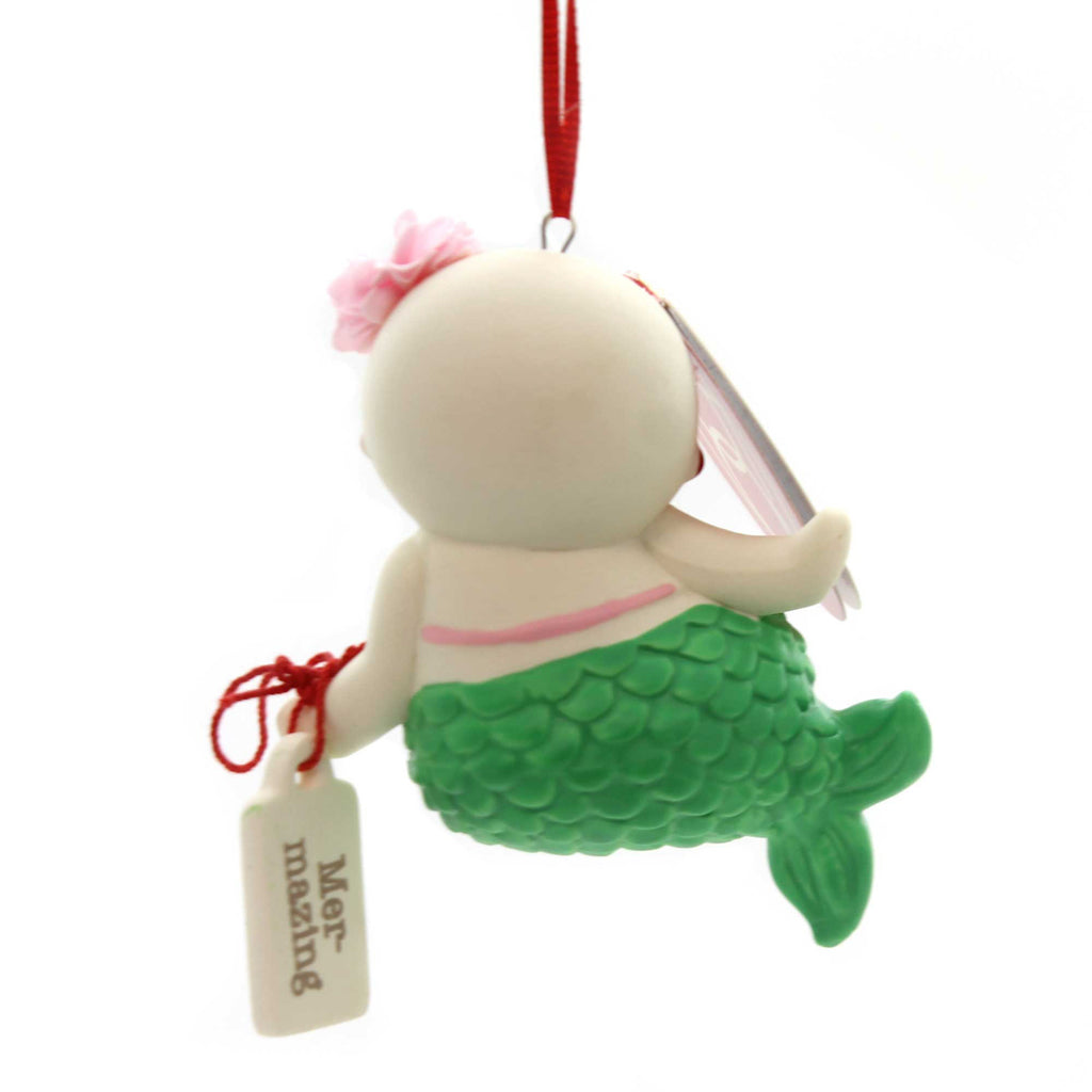 Holiday Ornaments MER-MAZING SNOWPINION Porcelain Department 56 6000925