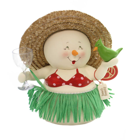Christmas BEACH BEAUTY SNOWPINION Porcelain Department 56 6000933 37274
