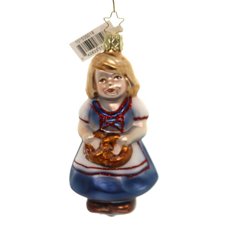 Inge Glas HILDE BAVARIAN CHRISTMAS Glass Ornament Pretzel 10153S018 37349