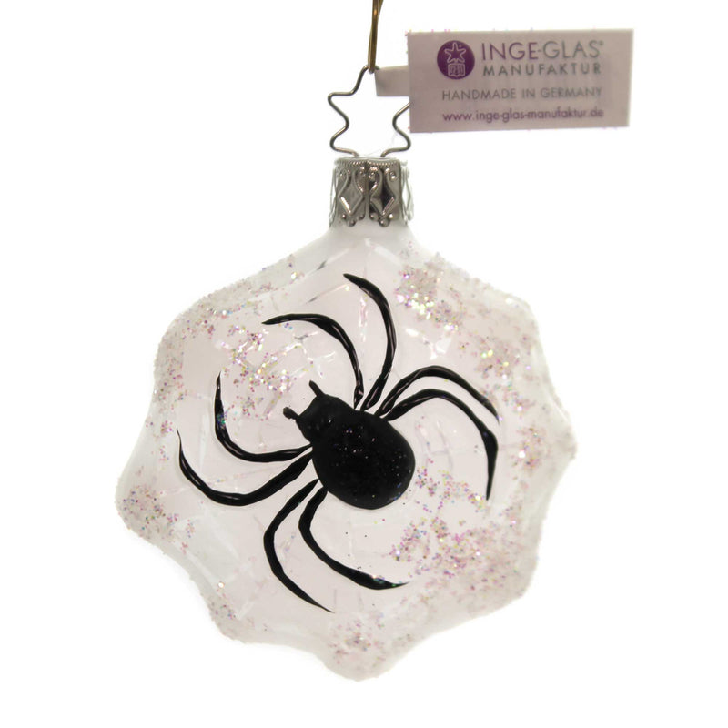 Inge Glas SPINNING CHRISTMAS Glass Ornament Halloween Spider 10035S018