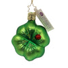 Inge Glas CLOVER LUCK ORNAMENT Glass Saint Patricks Lady Bug 10046S018
