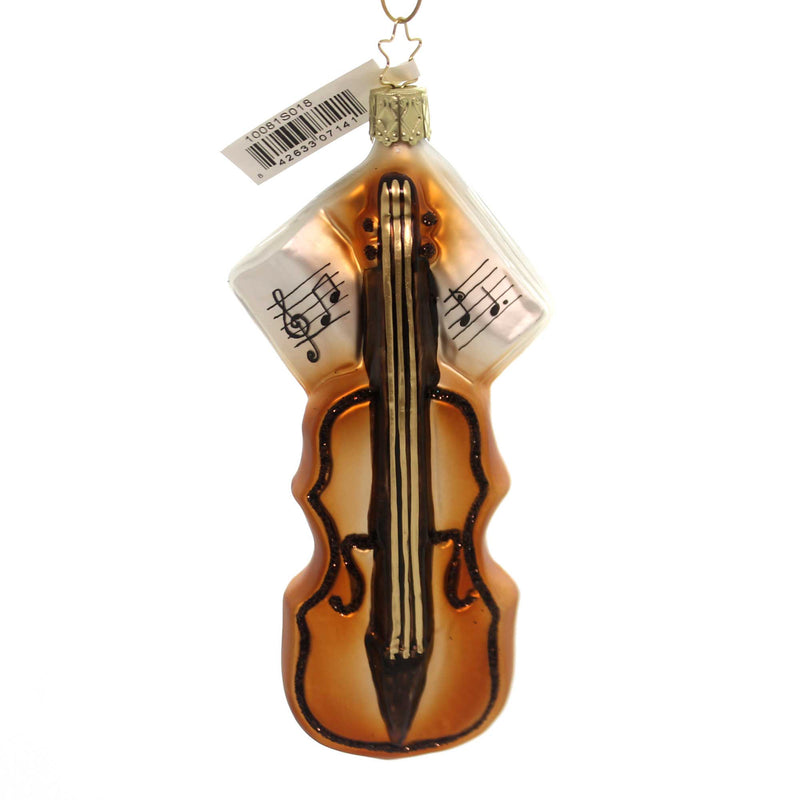 Inge Glas VIOLIN ORNAMENT Glass Christmas Music Wooden String 10081S018