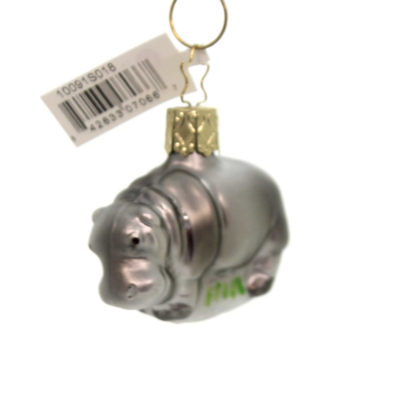 Inge Glas HAPPY HIPPO ORNAMENT Glass Hippopotamus Semi-aquatic 10091S018