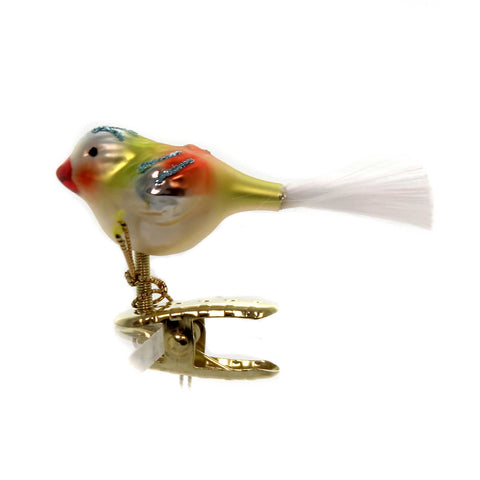 Inge Glas STANLEY ORNAMENT Glass Clip-On Bird 10136S018 37390