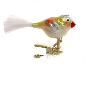 Inge Glas STANLEY ORNAMENT Glass Clip-On Bird 10136S018