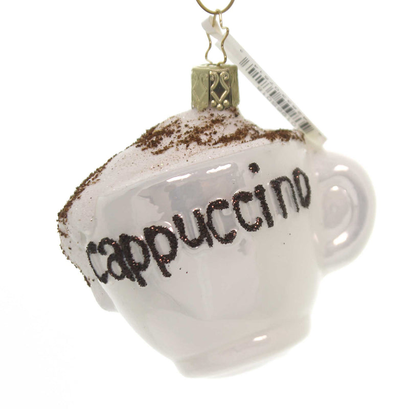 Inge Glas CAPPUCCINO CUP Glass Ornament Latte Coffe Beverage 10196S018