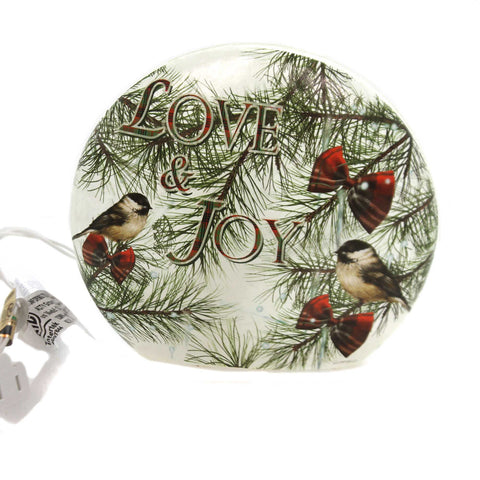 Stony Creek BIRDS LIGHTED ROUND VASE Glass Electric Bgb8261 A 37443