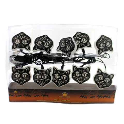 Halloween BLACK CAT MASK LED LIGHT SET Straight Line Construction Hw1724 37460