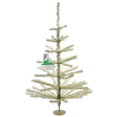 Christmas CHAMPAGNE TINSEL TREE Plastic 65 Tips Tr2479 37469