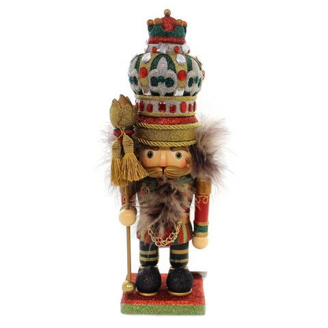 Christmas HOLLYWOOD FANCY KING NUTCRACKER Wood Jewels Ha0270 37487