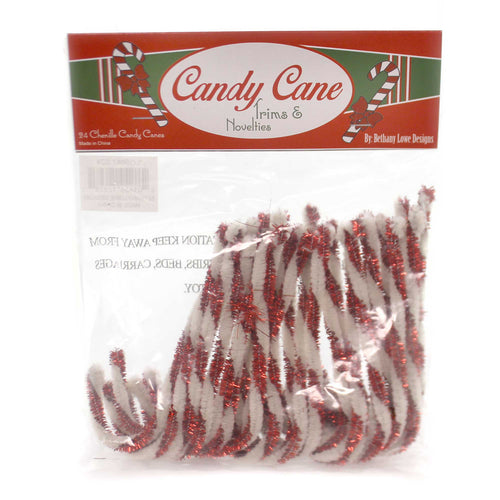 Christmas CHENILLE CANDY CANES Wire Trims Novelties Lo5687