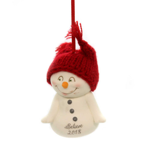 Holiday Ornaments BELIEVE, 2018 SNOWPINION ORN Porcelain Department 56 6001968 37672