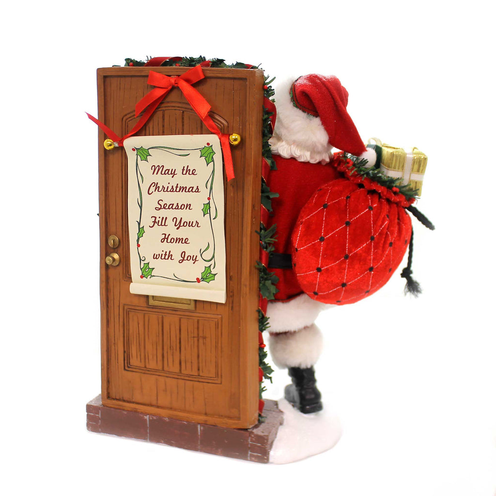 Possible Dreams KNOCK, KNOCK, WHO'S THERE? Fabric Santa Claus Christmas 6000699