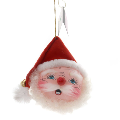 De Carlini ROUND FACE SANTA Glass Ornament Christmas Italian Bn388 37698