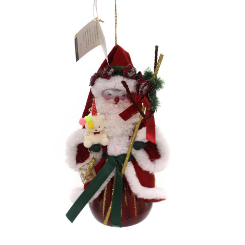 De Carlini VICTORIAN SANTA Glass Christmas Teddybear Staff Bn431. 37702