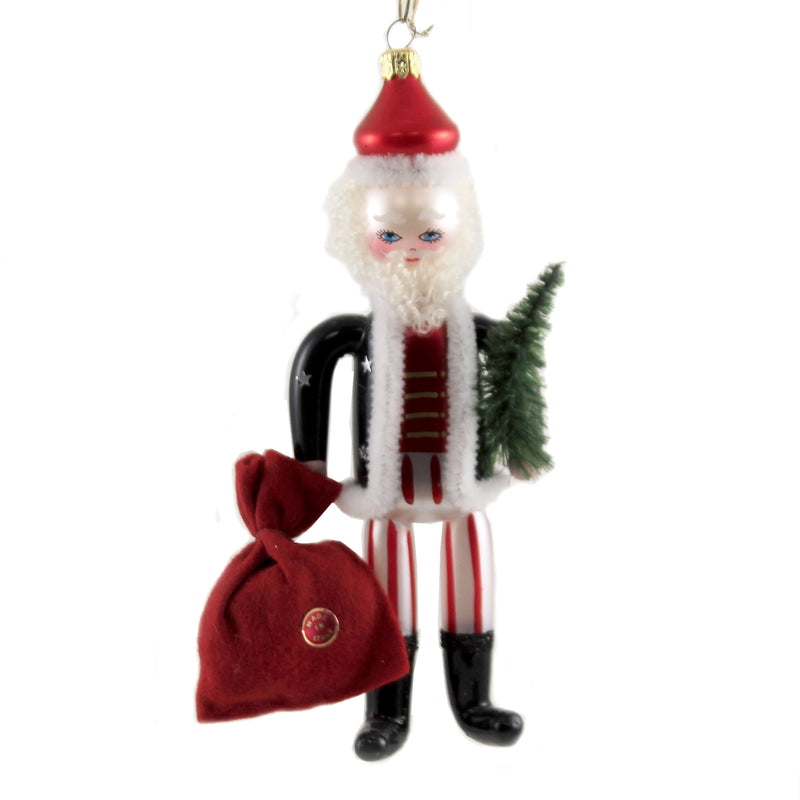 De Carlini SOLDIER SANTA WITH BAG Glass Christmas Italian Claus Bn401