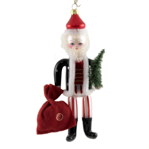 De Carlini SOLDIER SANTA WITH BAG Glass Christmas Italian Claus Bn401 37707