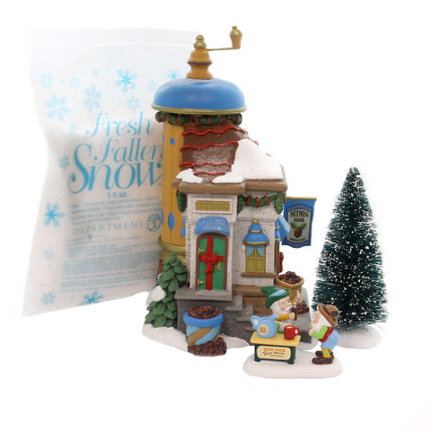 Department 56 House NUTMEG NOOK BOX SET North Pole Silver Series 6000617 37745
