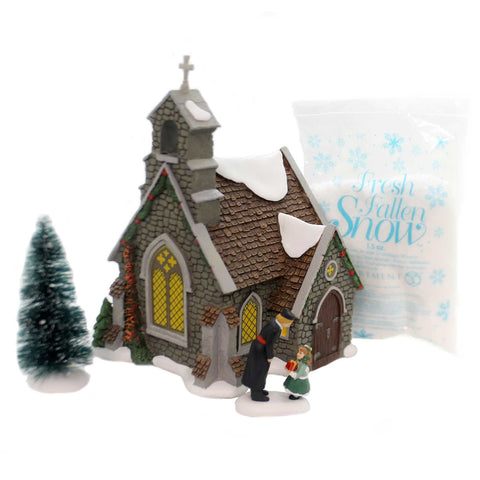 Department 56 House ISLE OF WIGHT CHAPEL BOX SET Dickens' Silver Series 6000587 37746