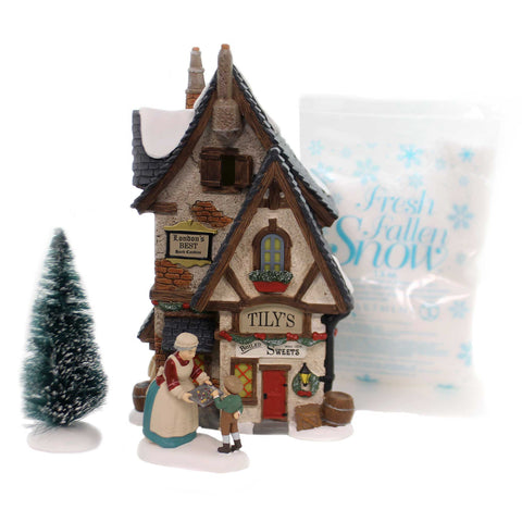 Department 56 House TILY'S BOILED SWEETS BOX SET Dickens' Silver Series 6000588 37747