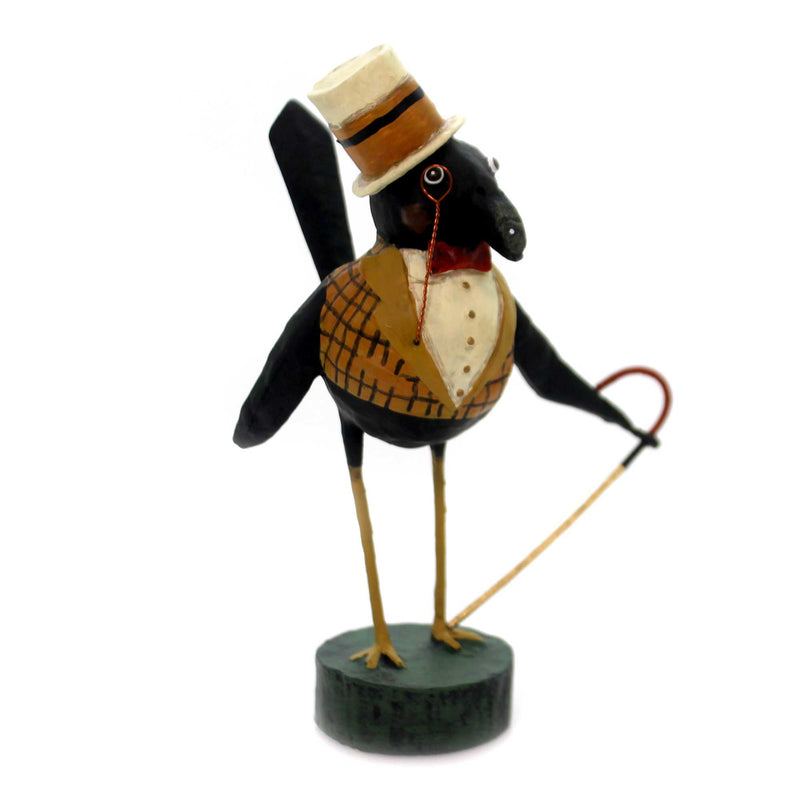 Lori Mitchell OLD CROW Polyresin Cane Top Hat Halloween 11095