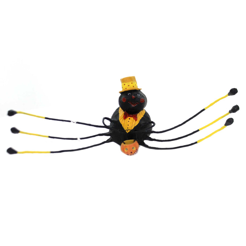 Lori Mitchell WILLIE WEB WEAVER Polyresin Spider Black Halloween 11100