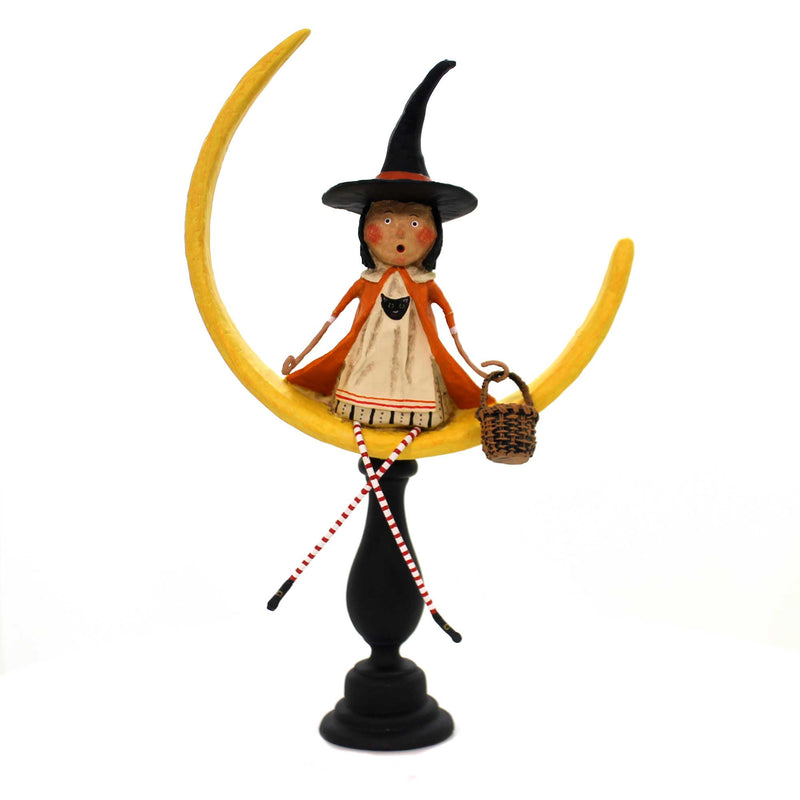 Lori Mitchell MOONLIGHT MAGIC Polyresin Halloween Moon 11099