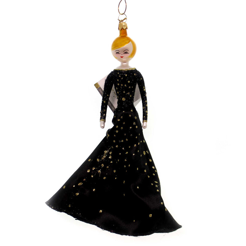 De Carlini LONG BLACK DRESS LADY Glass Italian Do7557