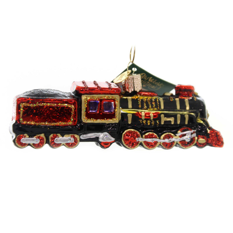 Old World Christmas TRAIN Glass Steam Locomotive 46080