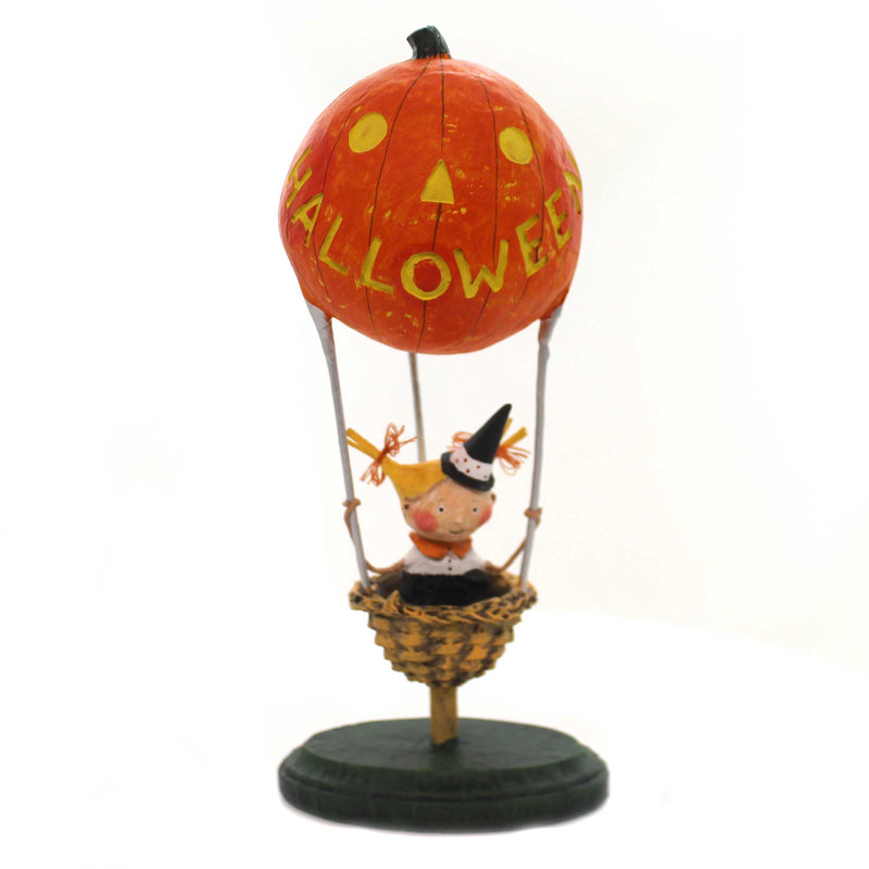 Lori Mitchell HALLOWEEN HEIGHTS Polyresin Halloween Hot Air Balloon 11096