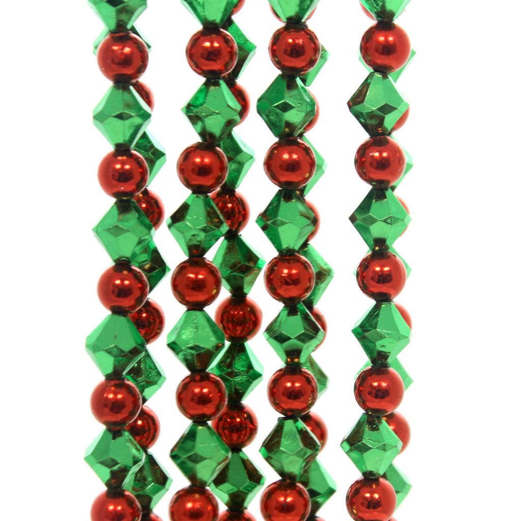 Christmas RED AND GREEN GARLAND Plastic Tree Trimming H0271