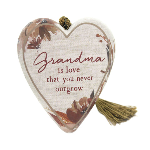 Home Decor GRANDMA IS LOVE ART HEART Polyresin Mother's Day 1003480228 37916