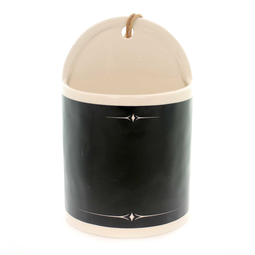 Home Decor CHALKBOARD WIDE CERAMIC CROCK Ceramic Organize 1004180314
